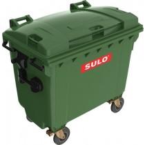 Container 660 l, capac plat, diverse culori
