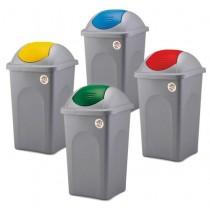 Cos de gunoi colectare selectiva cu capac batant 30l