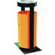 Cos de gunoi cu scrumiera 35 litri, metalic cu suport