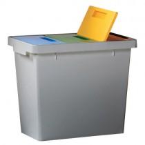 Cos gunoi cu 3 compartimente pentru sortare selectiva 40l