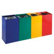 Cos de gunoi colectare selectiva metalic 100l