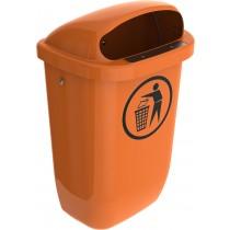 Cos gunoi stradal plastic 50 litri