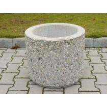 Jardiniera beton rotunda