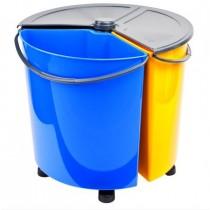 Set cosuri reciclare selectiva 3 x 12 litri