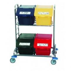 Carucior mobil pentru cosuri de gunoi