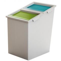 Cos gunoi cu 2 compartimente pentru colectare selectiva