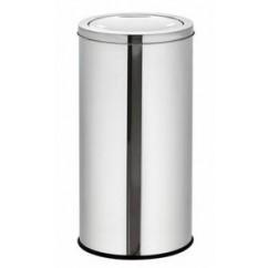Cos de gunoi din inox cu capac batant 45 cm