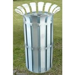 Cos de gunoi metalic 85 litri, otel inoxidabil
