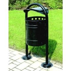 Cos gunoi pentru parcuri 35 litri din otel zincat