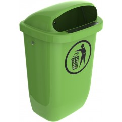 Cos de gunoi stradal 50l verde deshis