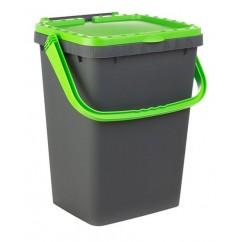 Recipiente reciclare selectiva cu maner si capac